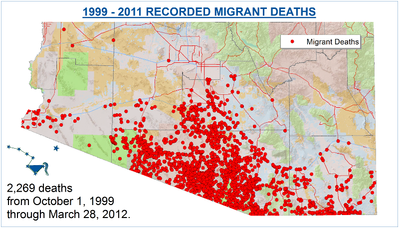 Death As Deterrence The Desert As A Weapon Alliance For - Map mexico and the us